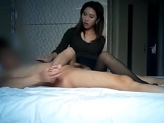 GF With Pantyhose handjob and fucking